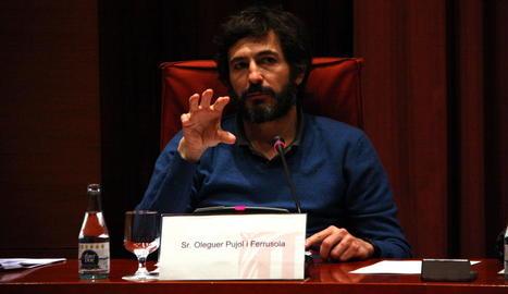 Oleguer Pujol en la seua compareixença al Parlament l'any passat.