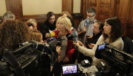 La subdelegada del Govern espanyol a Lleida, Inma Manso, aquest dimecres amb els mitjans.