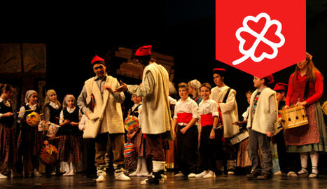 Escena de l'obra 'Els Pastorets' de Lluís Millà