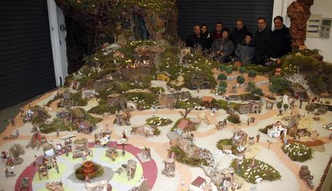 El pessebre comptarà amb 350 figures estàtiques i 70 en moviment.