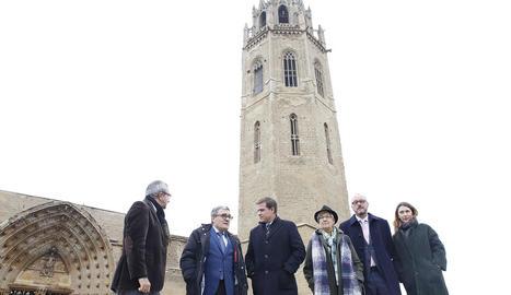 Ros va visitar la Seu Vella amb la delegació de Xàtiva.