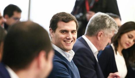 Rivera en la reunió del consell general de Ciutadans.