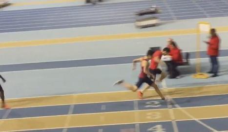 Aleix Porras bat el rècord d'Espanya en els 500 metres llisos en categoria juvenil.