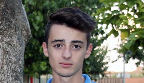 Aleix Porras, un atleta d'Alpicat que pertany al FC Barcelona.