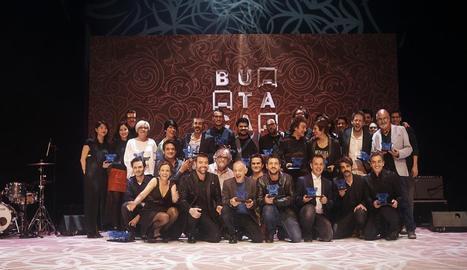 Guardonats amb els Premis Butaca, dilluns passat a Barcelona.