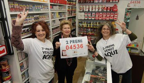 Lleida reparte parte de un segundo Premio de la Lotería de Navidad