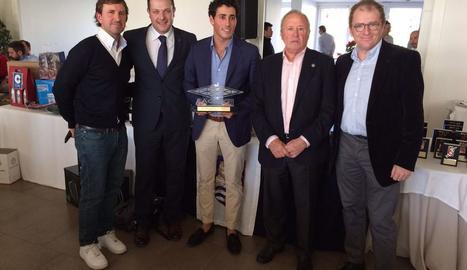 Carlos Pigem, durant l'acte en el qual va rebre el guardó al millor golfista català de l'any.