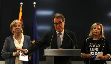 Irene Rigau, Artur Mas i Joana Ortega, el passat 3 d'octubre.