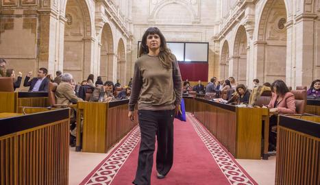 La secretària general de Podem a Andalusia, Teresa Rodríguez.