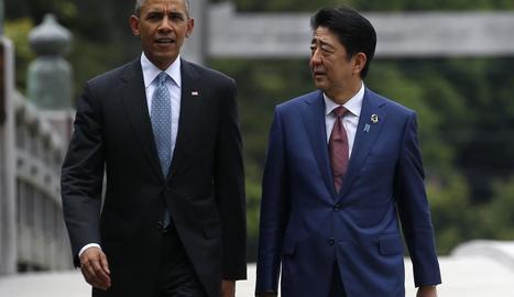 Barack Obama amb el primer ministre japonès, Shinzo Abe, en una imatge d'arxiu.