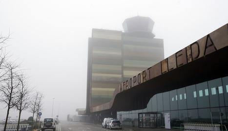 Una vista de l'aeroport de Lleida-Alguaire aquest dimecres, 28 de desembre.