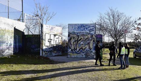 Voltants de la cabana dels presumptes jihadistes a Vallecas.