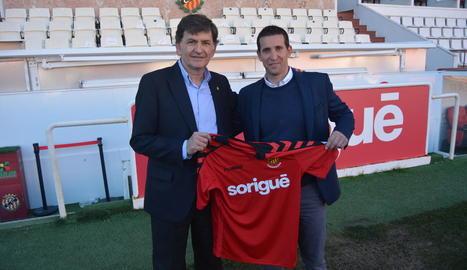 Juan Merino, a la dreta, amb el president Josep Maria Andreu.