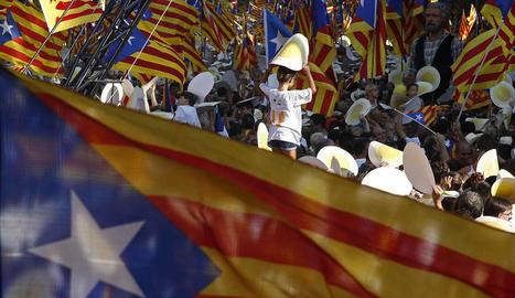 Un moment de la manifestació independentista de la passada Diada a Barcelona.