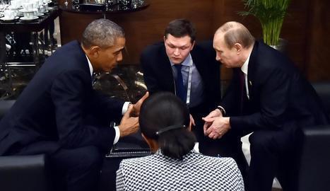 Obama i Putin, en una trobada a l'Assemblea de l'ONU, a Nova York, el setembre del 2015.