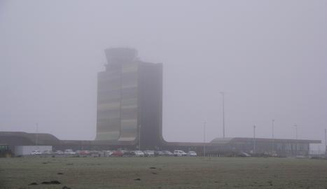Una vista de l'aeroport de Lleida-Alguaire aquest dilluns, 2 de gener.