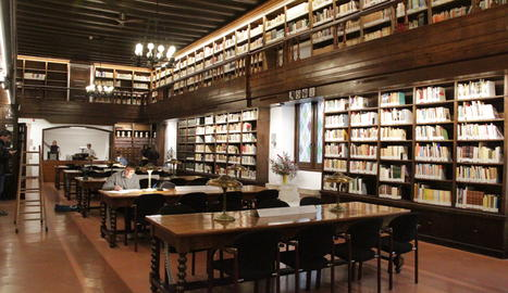 La biblioteca de l'IEI aquest dilluns.