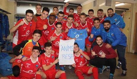 El juvenil del Lleida Esportiu li va dedicar l'última victòria de la temporada, al camp del Figueres.