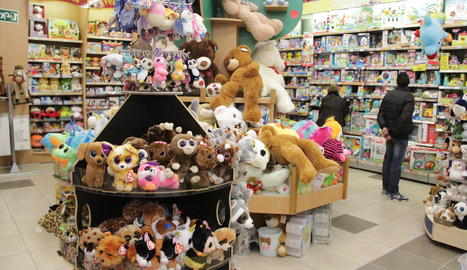 Una botiga de joguines aquest dimarts a Lleida.