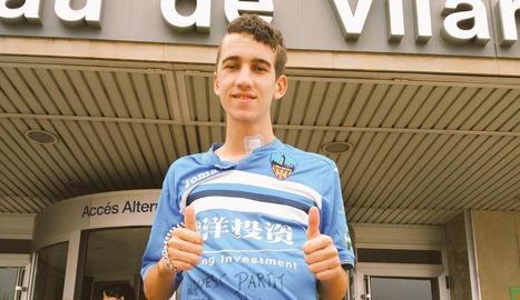 Marc Resa, aquest dimarts, a la porta de l'Arnau de Vilanova.