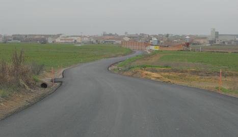 El tram de carretera que ja ha estat repavimentat.