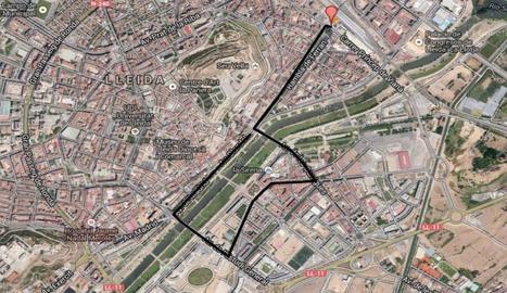Recorregut de la cavalcada a Lleida.