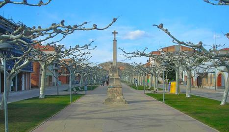 Vista del centre urbà de Castelldans.