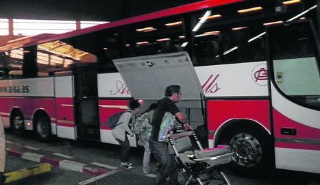 Una estació d'autobusos de Lleida.