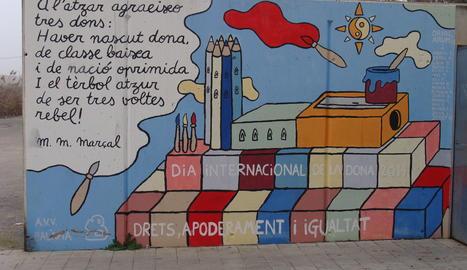 Un bonic graffiti, a la Nova Balàfia