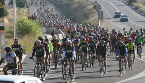 Marxa per l'atropellament mortal de dos ciclistes a Soses el 2015.