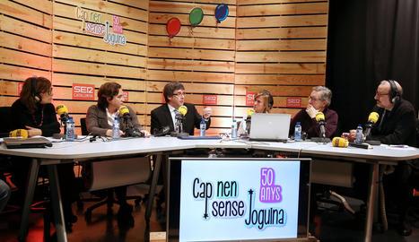 Puigdemont i Ada Colau, ahir a Ràdio Barcelona.