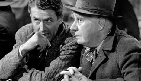 George Bailey amb l'àngel Clarence.