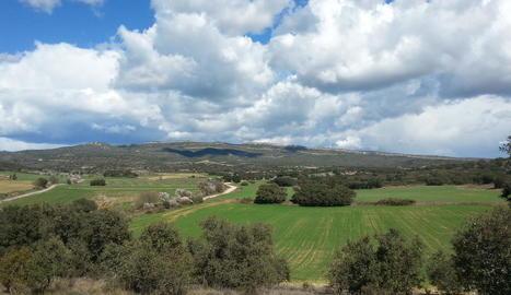 Imatge d'arxiu de l'espai natural de la Tossa d'Algerri.