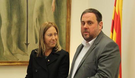 La portaveu del Govern, Neus Munté, i el vicepresident, Oriol Junqueras, en una imatge d'arxiu.