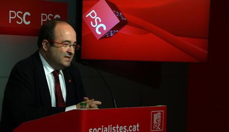 El primer secretari dels socialistes catalans, Miquel Iceta.