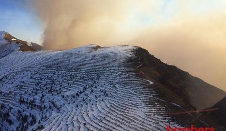 El perímetre del foc fa 10 quilòmetres.