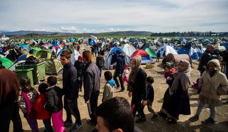 Imatge d'un camp de refugiats a Turquia.