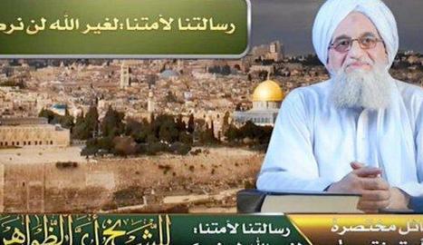 Una captura del vídeo del líder d'Al-Qaeda, Ayman al-Zawahiri.