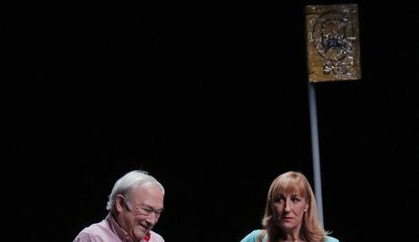 Un moment de la funció de 'Soledades' d'Encantaria Teatre.