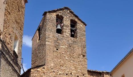 L'església de Sant Romà d'Abella en una imatge d'aquesta setmana.