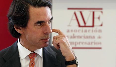 Aznar ahir durant el seu discurs al dinar amb el ple de l'Associació Valenciana d'Empresaris.
