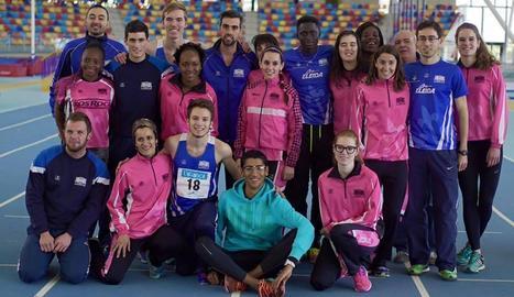 Els atletes del Lleida Unió Atlètica que han aconseguit mantenir-se a la màxima categoria catalana.