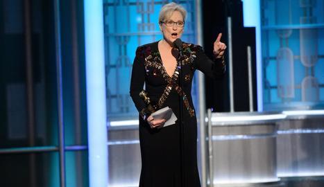 Meryl Streep durant el discurs als Globus d'Or.