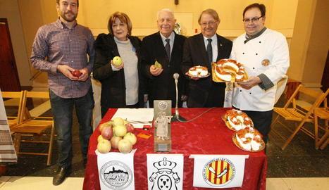 Un moment de la presentació ahir de la festa a Lleida.