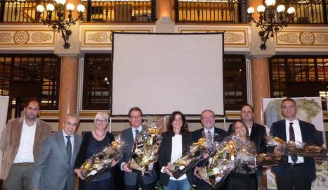 La presentació ahir de la Fira de l'Oli a Barcelona.