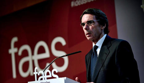Aznar durant la clausura de l'acte 'Ideas para la sociedad'.