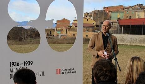 Romeva ha presentat el Pla de fosses 2017 a Figuerola d'Orcau (Pallars Jussà)