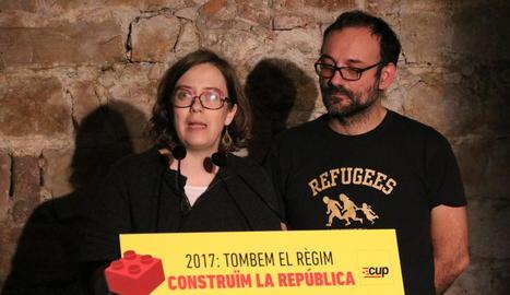 Reguant i Salelles, després de la conferència dels cupaires d'aquest dijous a Barcelona.