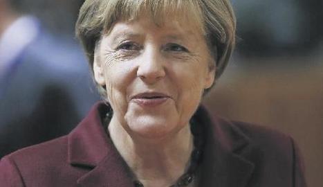 La cancellera alemanya Angela Merkel es presenta a la reelecció.