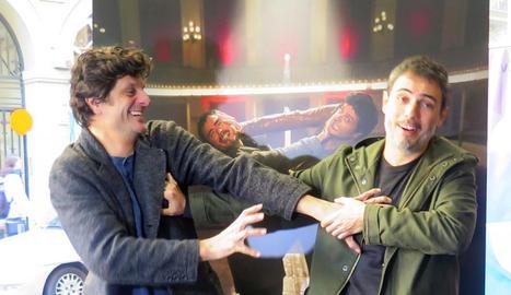 Joel Joan i Julio Manrique, el dia de la presentació de la segona temporada de la sèrie.